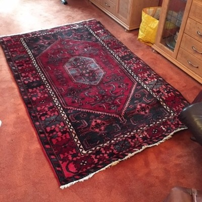 Traditional hand woven Persian rug