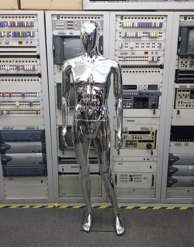 Silver metallic male mannequin