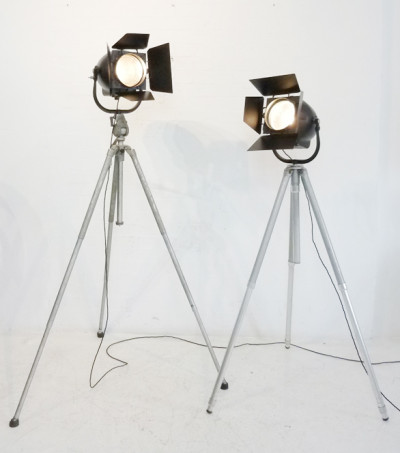 Vintage 'Strand Electric' Black Studio Spotlight