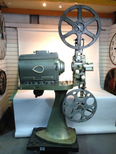 Large vintage cinema projector