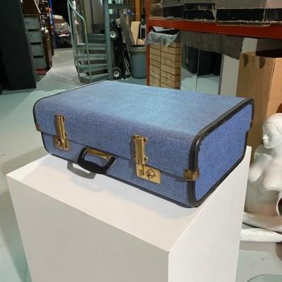 Vintage blue travel case