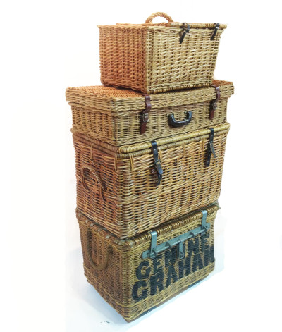 Stack of Wicker Baskets
