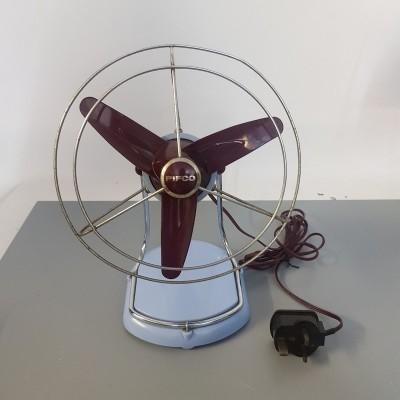 Light blue fan
