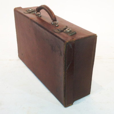 Dark Brown Leather Suitcase 2