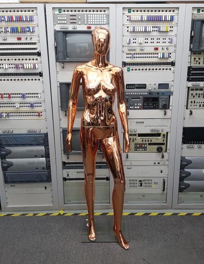 Rose gold metallic female mannequin