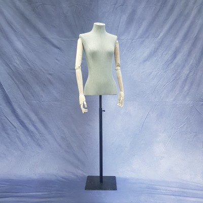 Female dressmaker mannequin with articulated arms