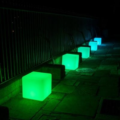 Illuminated Wireless Pouf Cubes
