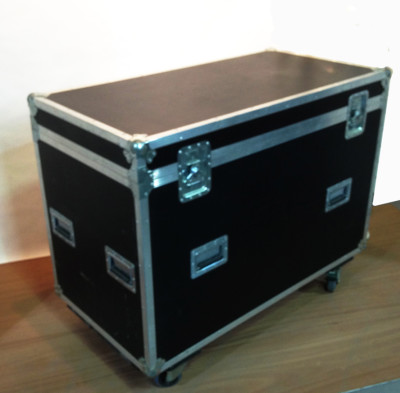 Large Black Flight Case on Wheels