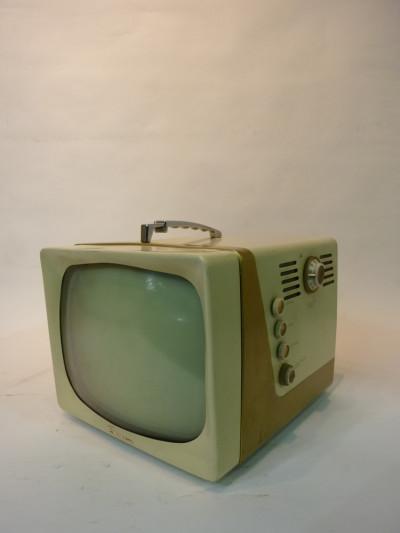 White Vintage 1950's TV