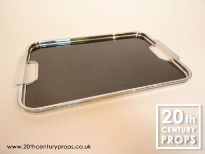 Art Deco chrome tray
