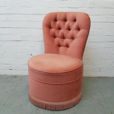 Pink Fringed Chair