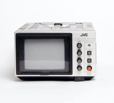 Non practical silver vintage mini JVC video monitor