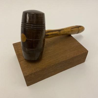 Judge's gavel and block