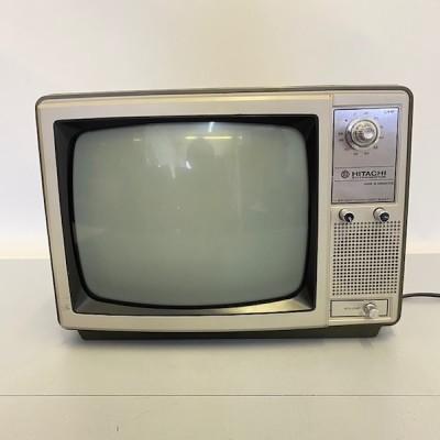 Fully working black & white Hitachi IC Transistor TV M1262
