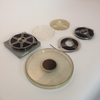 Small Plastic 16mm and 8mm Film Reels