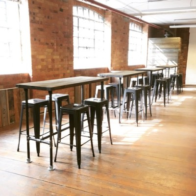 Vintage Industrial Style High Poseur Tables