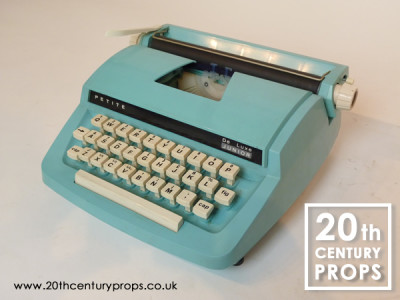 Retro PETITE pale blue junior typewriter