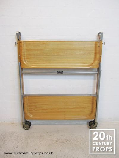 Folding hostess trolley