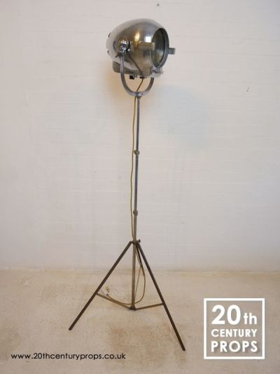 Chrome Industrial Floor Lamp