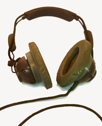 Brown Vintage Headphones