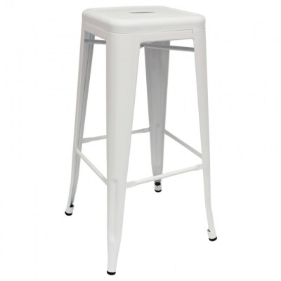 White Tall Tolix Stool