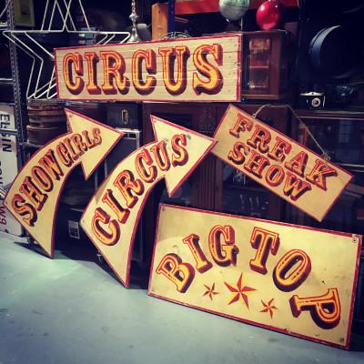Vintage Circus signs