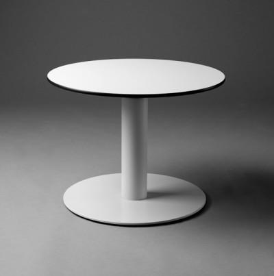 White Round Top Table