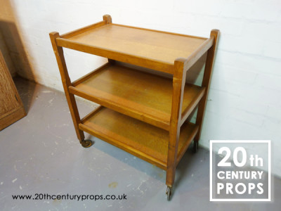 1940's oak hostess trolley