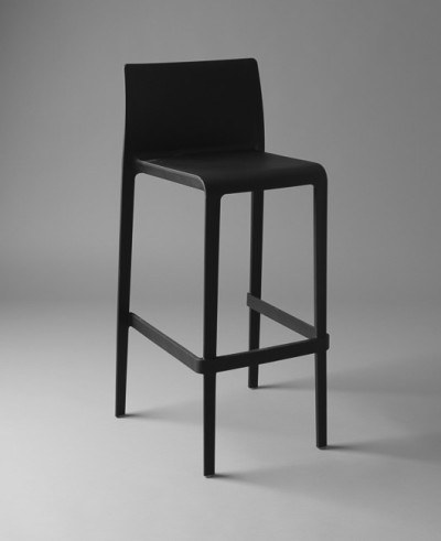 Black Lean Stool