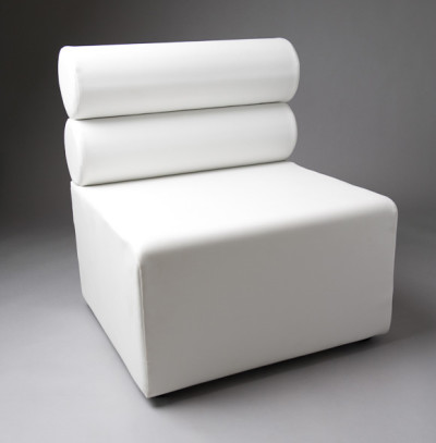 White Double Bolster 1 Meter Length Modular Sofa