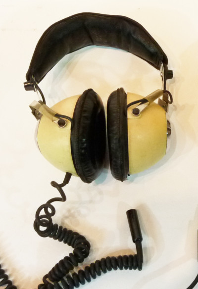 Cream Retro Headphones