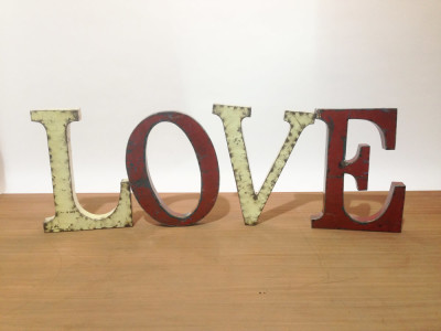 Large metal LOVE letters