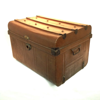 Brown Metal Chest