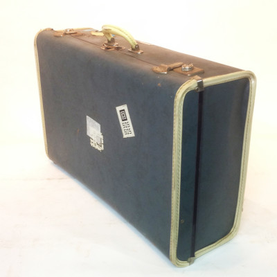 Large Navy Suitcase