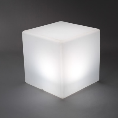 Illuminated Wireless Cube / Display Plinth - 40cm x 40cm