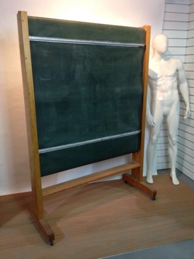 Revolving vintage blackboard