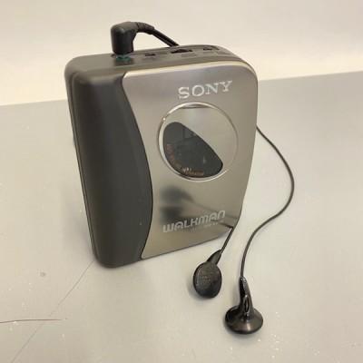 Sony Walkman with in-ear headphones