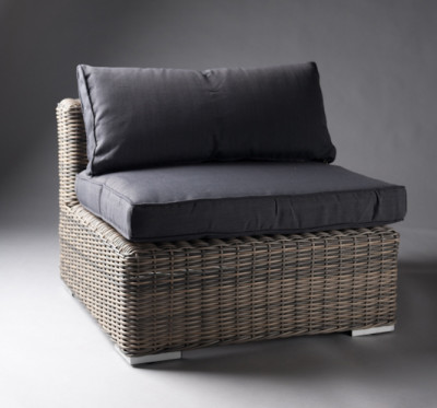 Black Outdoor Rattan Chair
