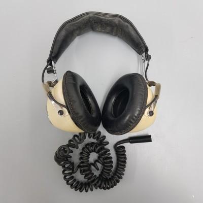 Cream Retro Headphones