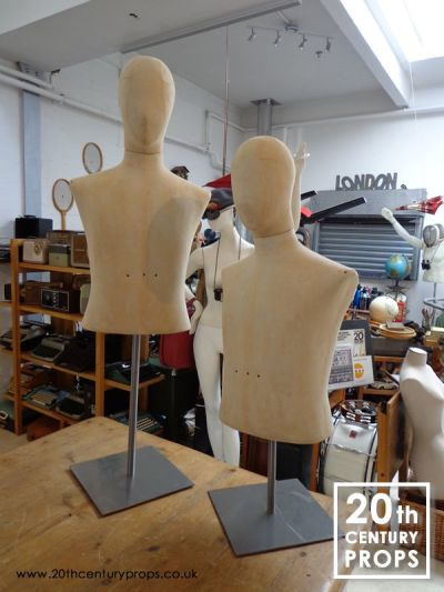 Male vintage mannequins on stand