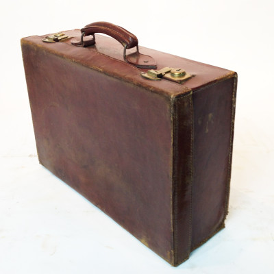 Brown Leather Suitcase 2