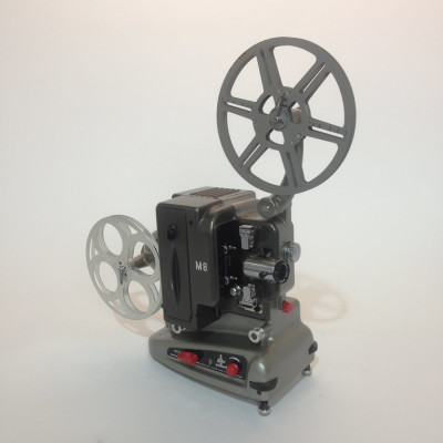Silver and Black Bolex 8mm Film Projector