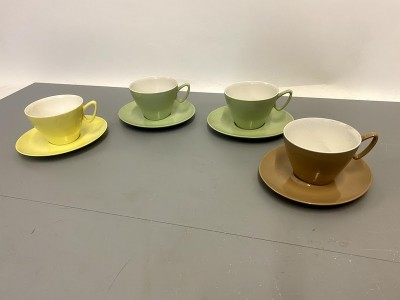 1970's melamine cups and saucers