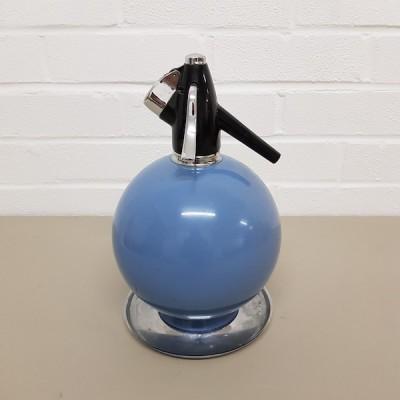 Blue 1960's Soda Bottle With Chrome Base