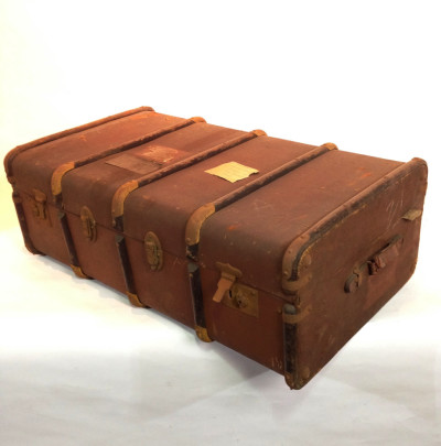 Long Brown Vintage Travel Trunk