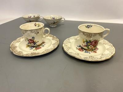 Bone china large cup & saucers