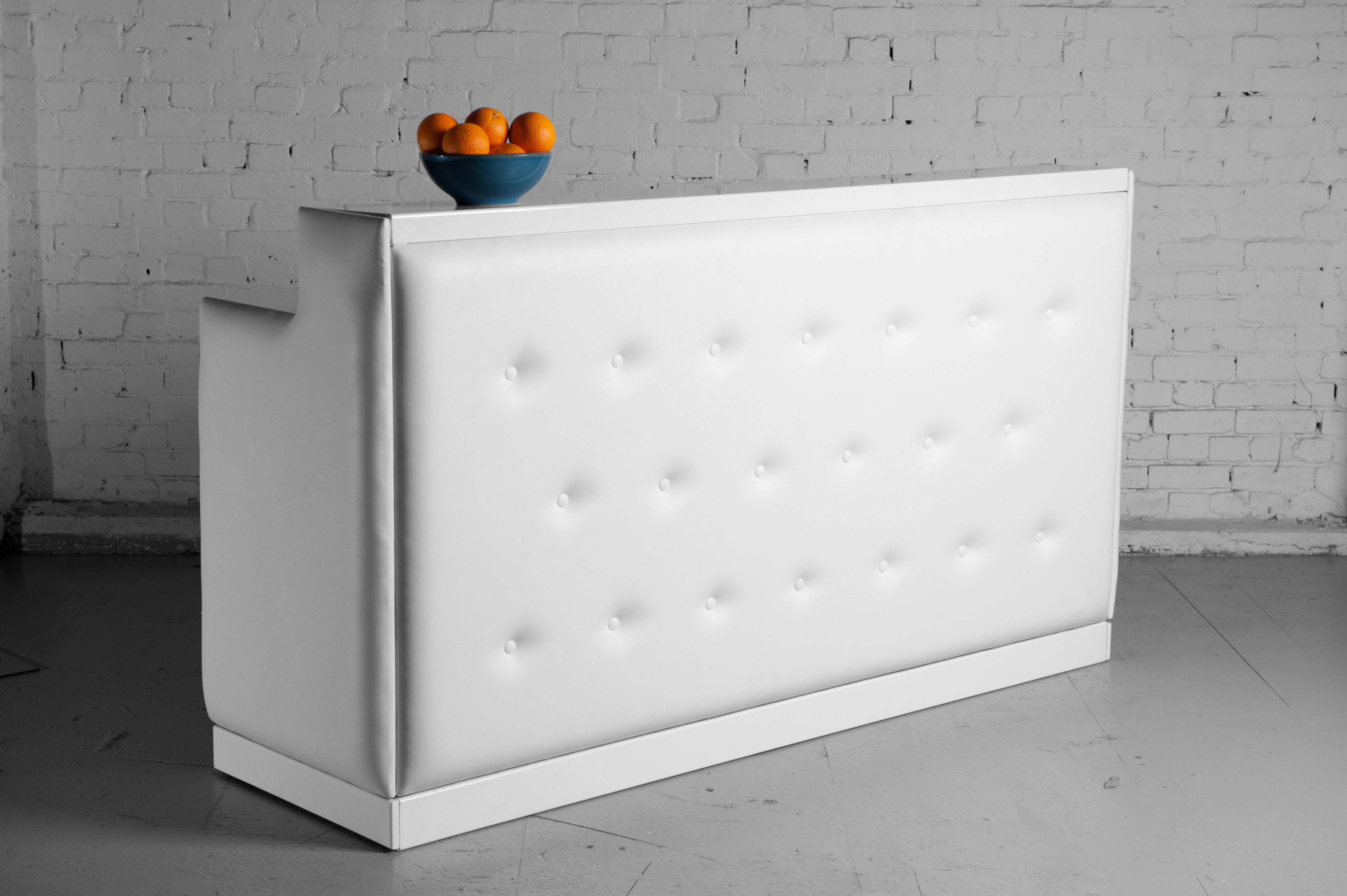 buy online 7d4e9 5da04 White padded bar long   LONDON PROP HIRE