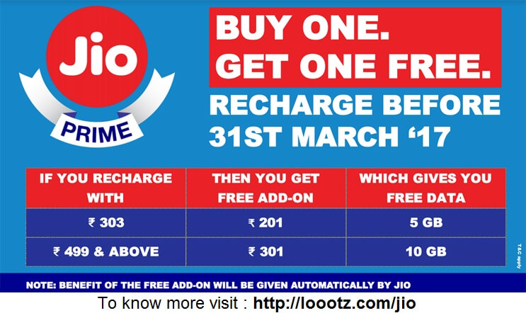 jio buy one get one free