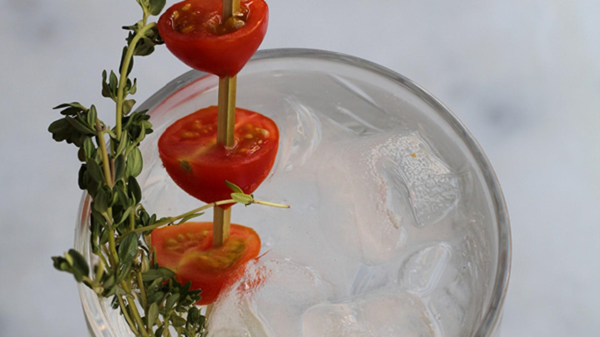 gin tonic -honigtomaten