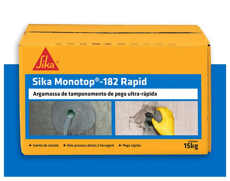Argamassa de tamponamento Sika Monotop -182 Rapid